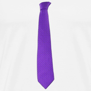Purple tie Teddy - Männer Premium T-Shirt