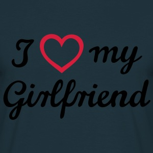 I love my girlfriend. Amo a mi novia.  Sudadera - Camiseta hombre