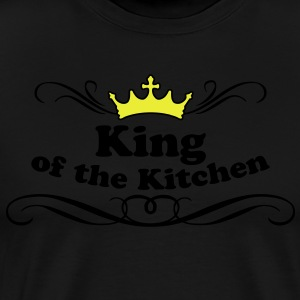 King of the Kitchen Förkläden - Premium-T-shirt herr