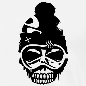 A skull with snowboard goggles and a cap Hoodies & Sweatshirts - Men's Premium T-Shirt