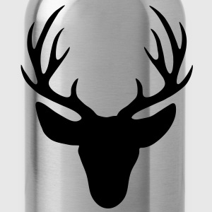 stag - Deer antlers - Water Bottle