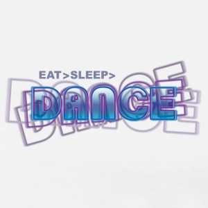 eat sleep dance | Tanzshirts Poloshirts - Premium T-skjorte for menn