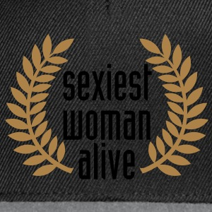 sexiest woman alive T-Shirts - Snapback Cap