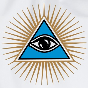 all seeing eye - eye of god - 1-3 colors - symbol of Omniscience & Supreme Being Felpe - Sacca sportiva