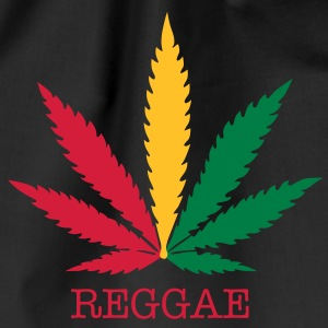 love reggae weed marijuana T-Shirts - Drawstring Bag