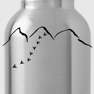 Mountains and bird tracks T-Shirts - Water Bottle