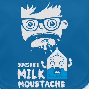 Funny i love awesome milk cool moustache geek bro Shirts - Baby Organic Bib