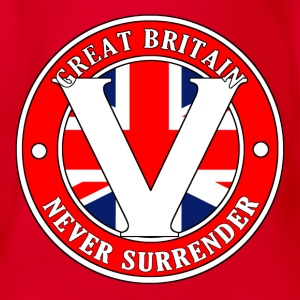 Great Britain Never Surrender-001 - Organic Short-sleeved Baby Bodysuit