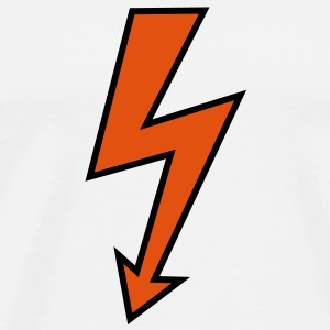 Blixtnedslag Arrow Effekt High Voltage Elektriker Underkläder - Premium-T-shirt herr