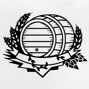 beer barrel with hops and ears of wheat Shirts - Baby T-Shirt