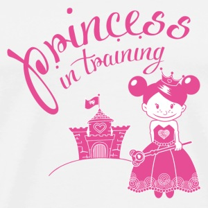 princess in training Buttons - Men's Premium T-Shirt