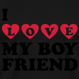 I LOVE MY BOYFRIEND. Valentine's Day Hoodies & Sweatshirts - Men's Premium T-Shirt