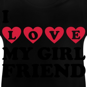 I love my girlfriend. Amo a mi novia.  Camisetas - Camiseta bebé