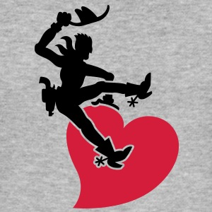 Cowboy Riding a Wild Heart Hoodies & Sweatshirts - Men's Slim Fit T-Shirt
