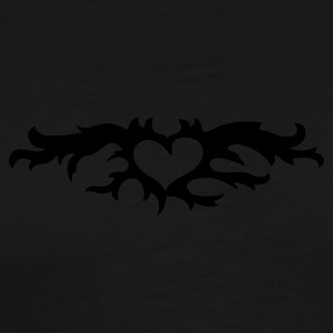 Zwart hart in vuur en vlam  / flaming heart (1c) Sweaters - Mannen Premium T-shirt