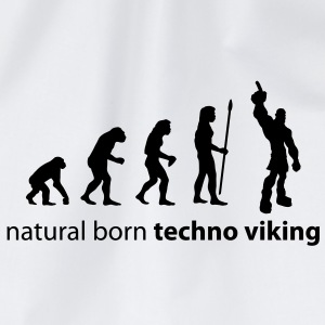 evolution_techno_viking T-Shirts - Drawstring Bag