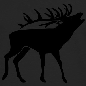stag night deer moose elk antler antlers horns T-Shirts - Men's Premium Longsleeve Shirt