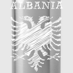 Albania, scribble white Pullover & Hoodies - Trinkflasche