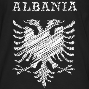 Albania, scribble white Hoodies & Sweatshirts - Men's Premium Longsleeve Shirt
