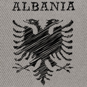 Albania, scribble black Sweat-shirts - Casquette snapback