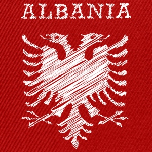 Albania, scribble white Tee shirts - Casquette snapback