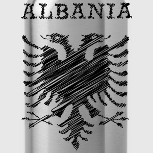 Albania, scribble black T-Shirts - Trinkflasche