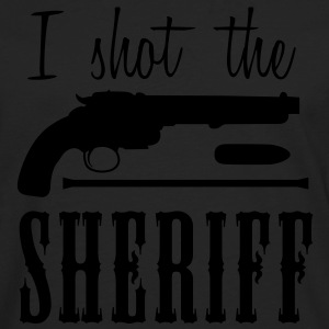 i shot the sheriff T-shirts - Mannen Premium shirt met lange mouwen