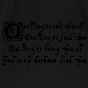 One Ring to rule them all Sacs - T-shirt Premium Homme