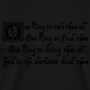One Ring to rule them all Pullover & Hoodies - Männer Premium T-Shirt