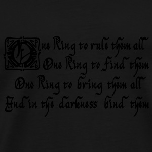 One Ring to rule them all Taschen - Männer Premium T-Shirt