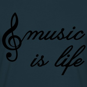 music is life Clef Musikk er livet. treble clef Gensere - T-skjorte for menn
