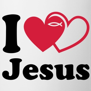 I love Jesus Eucharistie Konfirmation T-Shirts - Tasse