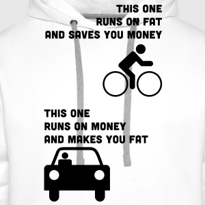 Runs on fat and saves you money T-Shirts - Men's Premium Hoodie