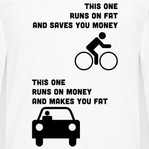 Runs on fat and saves you money T-Shirts - Men's Premium Longsleeve Shirt