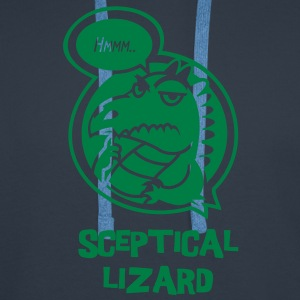 sceptical lizard 1 colour T-Shirts - Men's Premium Hoodie