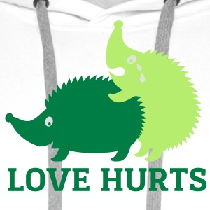 love_hurts Tee shirts - Sweat-shirt à capuche Premium pour hommes