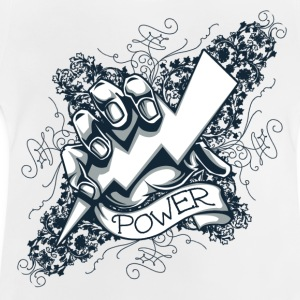 power  blitz tattoo  Camisetas - Camiseta bebé