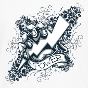 power  blitz tattoo  Skjorter - Premium langermet T-skjorte for menn