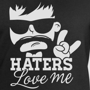 Like a haters love hate me moustache boss sir meme Magliette - Felpa da uomo di Stanley & Stella