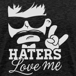 Like a haters love hate me moustache boss sir Sweaters - Mannen Premium T-shirt