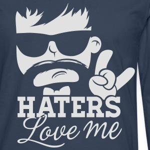 Like a haters love hate me moustache boss sir Sweaters - Mannen Premium shirt met lange mouwen