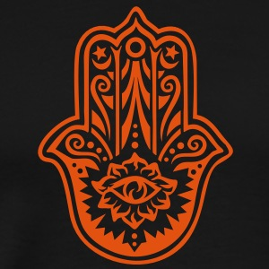 Hamsa Amulet, Hand of Fatima, Divine Protection Hoodies & Sweatshirts - Men's Premium T-Shirt