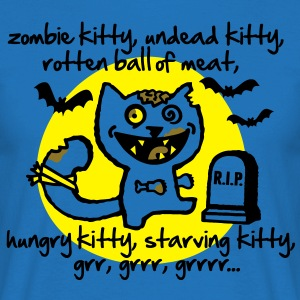 Zombie Kitty Gensere - T-skjorte for menn
