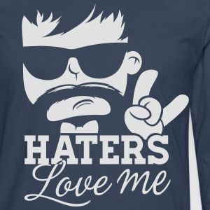 Like a haters love hate me moustache boss sir Tee shirts - T-shirt manches longues Premium Homme