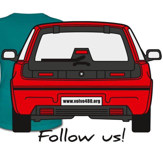 T-shirt classique femme recto-verso - Follow us