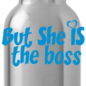 But she is the boss - Water Bottle