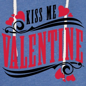kiss me valentine T-Shirts - Light Unisex Sweatshirt Hoodie
