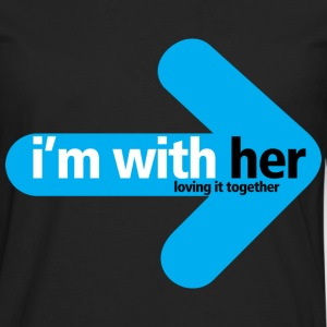 im_with_her Loving it together  - Men's Premium Longsleeve Shirt