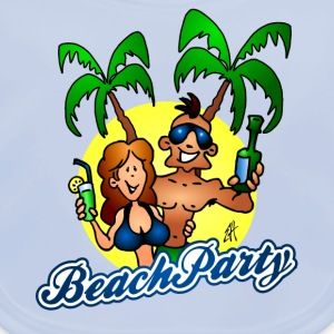 Beach party T-shirts - Baby økologisk hagesmæk