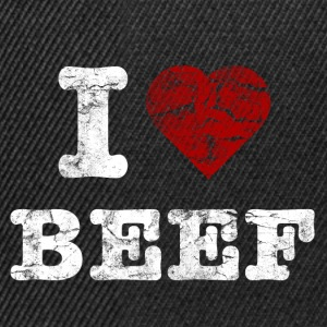 I Love BEEF vintage light Sweatshirts - Snapback Cap
